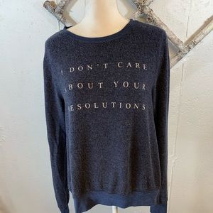 Wildfox I Don't Care About Your Resolutions Shirt